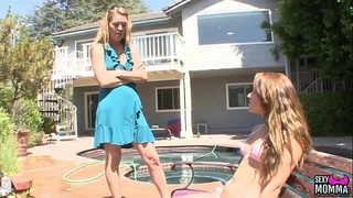 SEXYMOMMA - Bitchy teen disciplined by lesbian stepmom