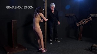 Young slave fucks up, whipped as punishment