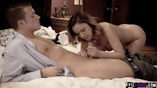 Sexy real state agent Dillion Harper fucks with her horny client Codey Steele after the open house event.