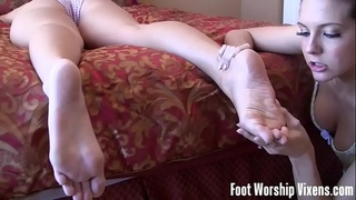 Sometime I sneak in and play with her pretty feet