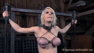 Gagged chick gets lusty torturing