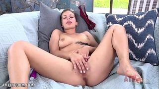 Sloan Harper plays with both her ass and pussy