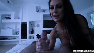 Texas Patti was upset after her husband is cheating on her,she uses her stepson to get revenge on her husband by fucking with his meaty dick.