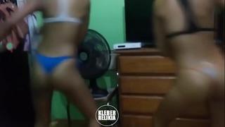 Teens dancing bikini