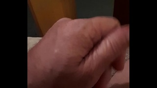 Stroking my hard wet cock 02.