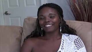 Ebony, a milf blessed with big tits, loves when her column gets visited and she gets fucked properly. The tits are really swinging ....