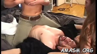 Enchanting lady blows packing monster ready for sex