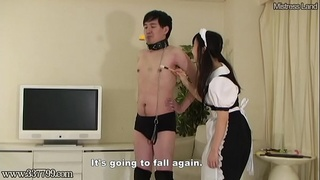 Human Vacuum Cleaner for Femdom Style Maid