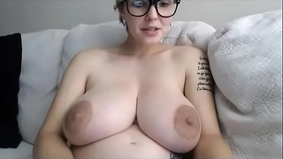 Pregnant Teen with a huge Tits