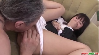 Kotomi Asakura super hot office sex with two men - More at Japanesemamas com