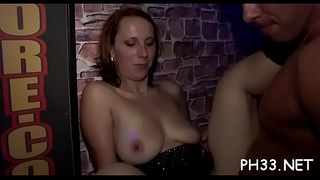 Very sexy gangbang in club