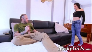 Two young sluts fucked hard in a wild threesome