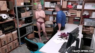 Lp Officer flips up Emily Rights legs and fucks her silly!