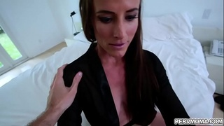 Sofie Marie grinding her cougar pussy against stepson!