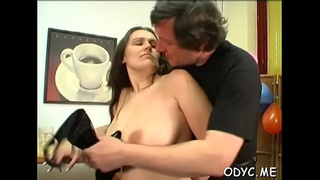 Overwhelming hottie Jenny with great natural tits adores blowjobs