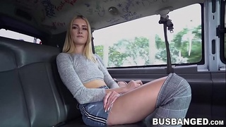 Tall amateur lady bent over for backseat pussy pounding