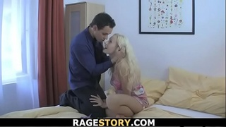 Czech blonde takes anal punishment for cheating
