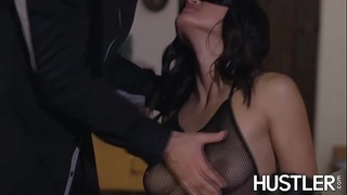 throat fuck,facial,kendra spade,fishnets,asian,blindfold,cowgirl