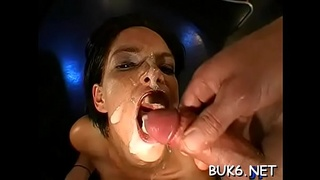 Filling babes'_ face holes with goo