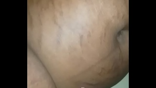 Cumming deep in my wife'_s nice pulsating black  pussy