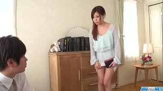 Chihiro Akino takes undies off for a big cock - More at 69avs com