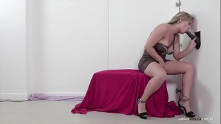 Lilith sucking and fucking like a pro in the gloryhole!