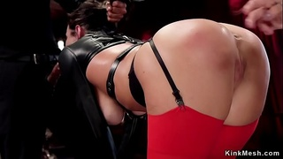 Master anal fucks and fists two slaves