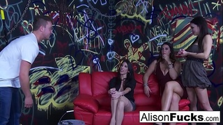Sexual energy goes wild in this amazing 4-way of fucking