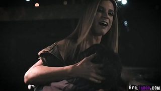 Blonde stepmom India Summers saw her dauther Kenzie Reeves very sad and comforts her by licking her teen pussy.