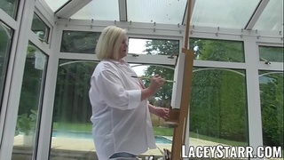 LACEYSTARR - Artistic GILF creampied after blowjob