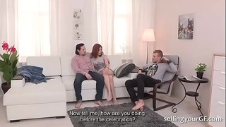 Horny Redhead Gf Enjoys Fun With a Stranger