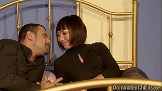 Restrained asian beauty dominated and fucked