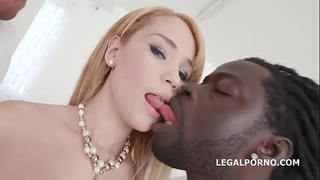 Doubleanalized Natasha Teen Gets 2 BBC Balls Deep with DAP, GAPES, Creampie &amp_ Swallow GIO860