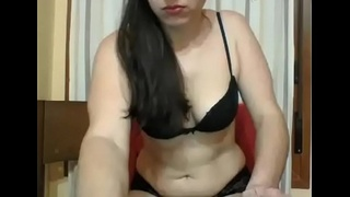 Girl is exhibited on the webcam part3