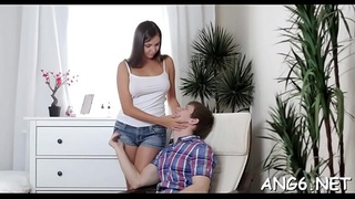 Demure chick receives unfathomable fucking after sucking studs willy