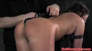 Flogged babe gets bent over and punished