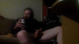 Im erect so i put lube on my cock and pull it.