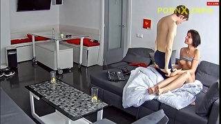 Lucky brother fucking hot sister - family spy cam