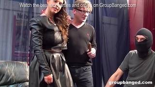 Amazing german milf model enjoys getting fucked by everybody in a gangbang