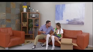 Hot Cookie Selling Teen Fucked By Stepdad on hott9.com
