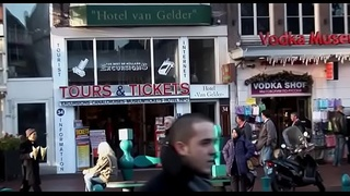 Stunning babe gets drilled hardcore style in amsterdam