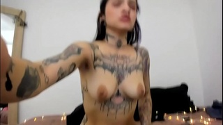 Alessa Frost Cam Girl from Colombia - only tattoo