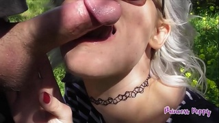 Public Outdoor Blowjob Compilation - Princess Poppy