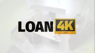 LOAN4K. Loan agent can assist red-haired beauty if she pleases him