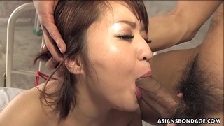 Kinky brunette, Runa Kanzaki is sucking dick like a pro