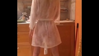 Alexandra naughty in her kitchen - Best of VK live