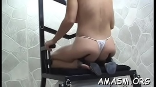 Females on obedient dude enjoying smothering and femdom