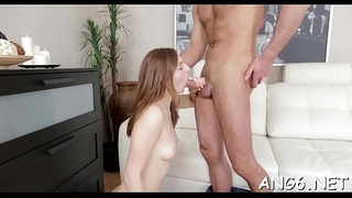 Hunk is delighting chick with his electrifying doggystyle fucking