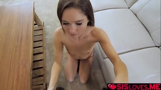Zoey Bloom wants her stepbros cock inside her horny pussy!