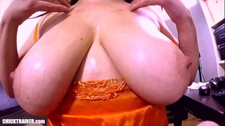 Double Titfucking. DD Sticky Tits! Two Cleavage Fucking Cumshots on Mom'_s Huge Natural Melons. Knockout Amateur Knockers fucked &amp_ jizzed on.